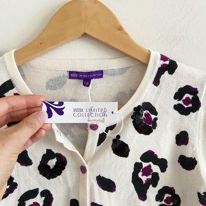NWT Marks & Spencer cheetah print sequin cardigan